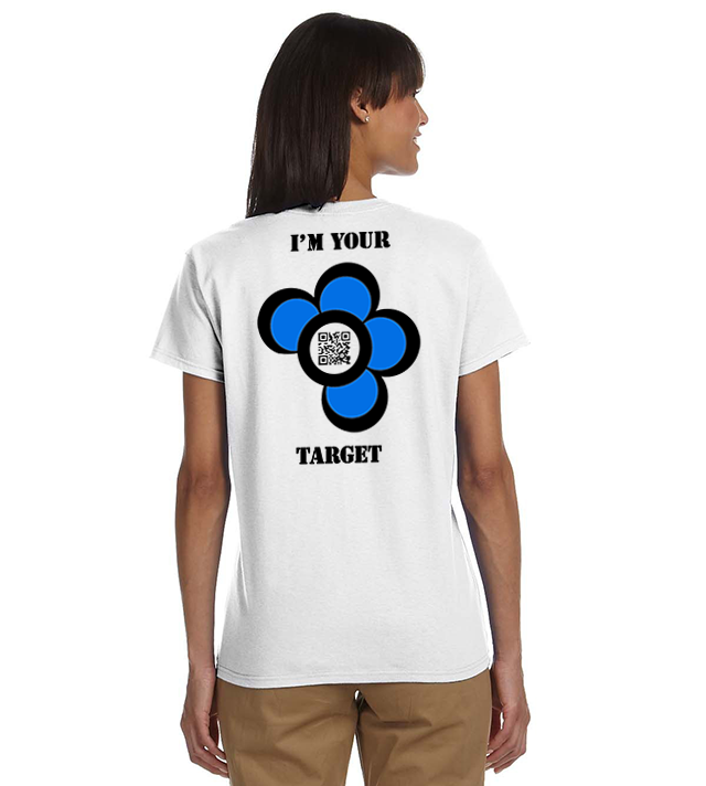 QRPlaza T-SHIRT - I'M YOUR TARGET - DAISY